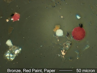 Paint Spheres and Other Debris Under the Microscope